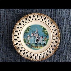 Vintage Disneyland Castle Souvenir Plate